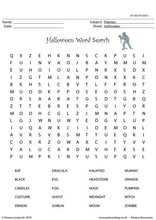 41 best Halloween Printable Worksheets - PrimaryLeap images on ...