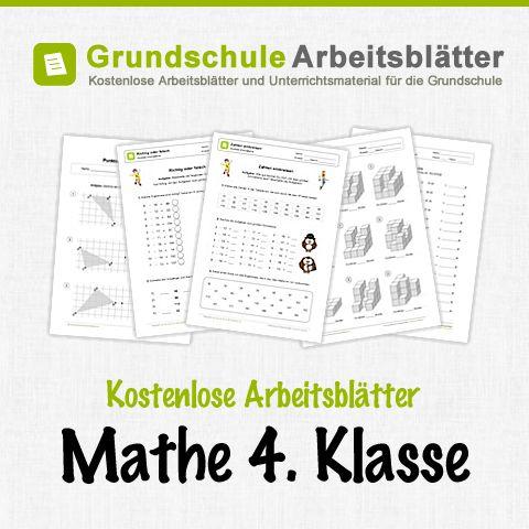 Kostenlose Arbeitsblätter und Unterrichtsmaterial für den Mathe-Unterricht in der 4. Klasse in der Grundschule.