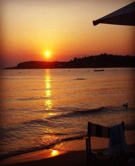 The best #sunset in town?In #Vouliagmeni. Take a deep breath and indulge into the serenity...