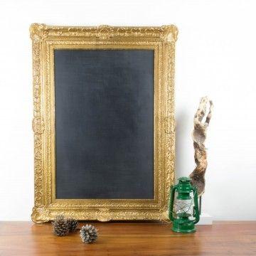 Pizarra a partir de antiguo marco dorado | Pizarras | Objetos y decoración