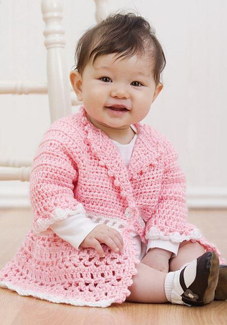 Craft Passions: Baby Jacket..# free # Crochet pattern link here