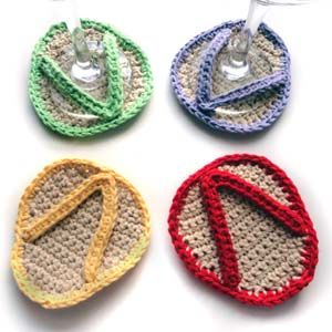Flip Flop Crochet Coasters
