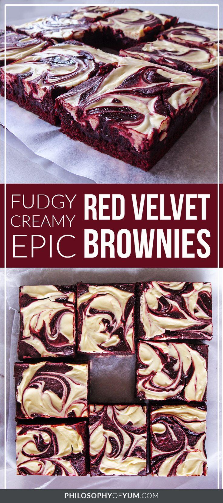 Red Velvet Brownies | Red Velvet Brownies from scratch | red velvet cheesecake brownies