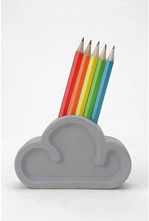 suck uk cloud pencil set: Clouds, Pencil Sets, Rainbows Cloud, Rainbows Pencil, Suckuk, Pencil Rainbows, Uk Cloud, Cloud Pencil, Pencil Holders