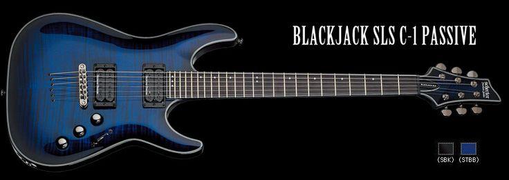 Schecter / BLACK JACK SLS C-1 PASSIVE See Thru Blue Burst with SATIN NECK シェクター エレキギター 【お取り寄せ商品】【送料無料】の最安値