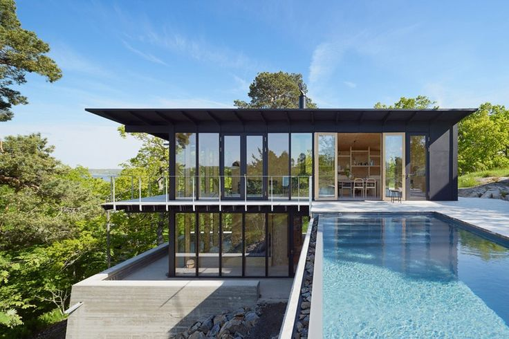andreas martin-löf builds a country retreat overlooking the stockholm archipelago