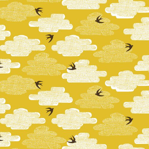 Free As A Bird | Pollen :: Up, Up & Away by Skinny laMinx for Cloud9 Fabrics