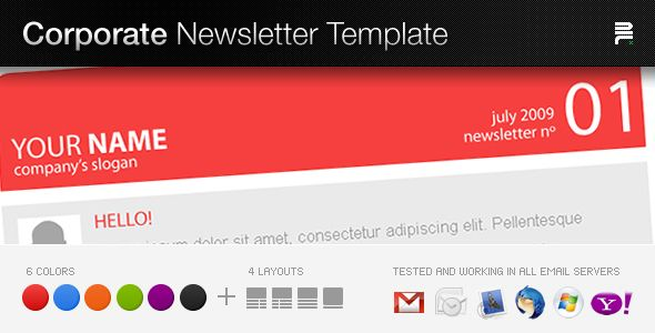 psd to email corporate newsletter