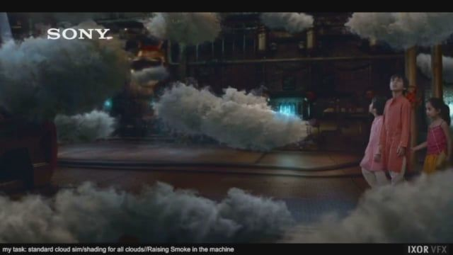 Here's a lot of my simulation work during last months for Sony Bravia TVC.  I worked as Houdini FX TD for IXOR VFX, supervised by Andronikos Bisogiannis.  I made almost all Houdini clouds/cloud burst/explosions(but only few glitters) library used in the commercial with Houdini PyroFX.  I provided also basic shading/lighting.  Here's a personal little making of.  Hope you enjoy,  Thanks for watching