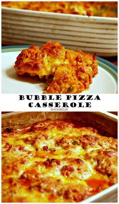 Bubble Pizza Casserole is an easy weeknight meal recipe using refrigerate biscuits to make a pizza casserole with all your favorite pizza topping that and everyone will clean their plate.