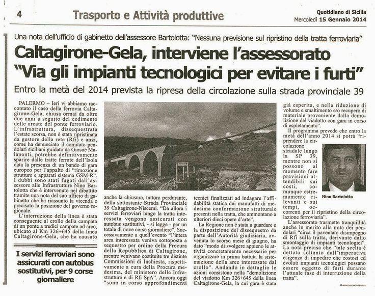 I Pendolari e le Infrastrutture in Sicilia: Caltagirone ...