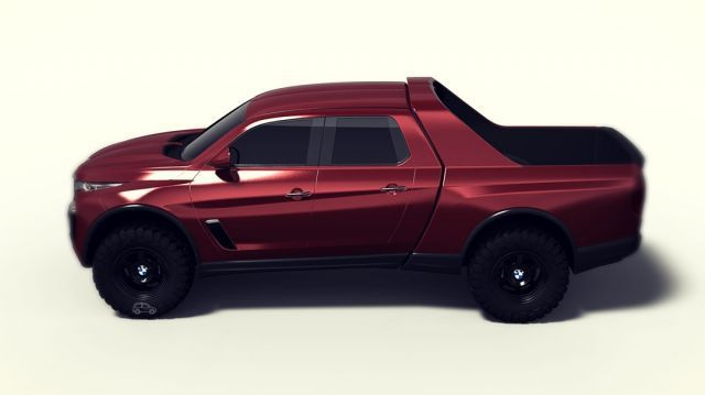 2020 Bmw Pickup Truck Side Bmw Truck Truck Design Bmw