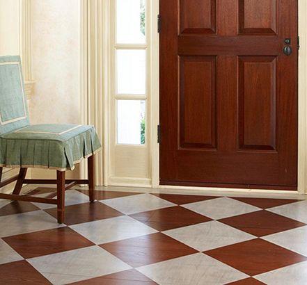 Ideal Holzboden Streichen Muster in wei und braun