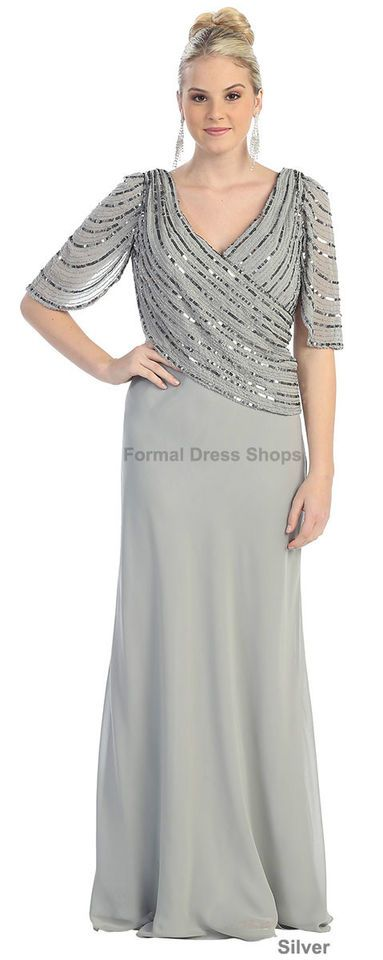 NEW MODEST UNIQUE PLUS SIZE MOTHER OF THE GROOM GOWN EVENING DRESS BRIDE FUNERAL | My Style ...