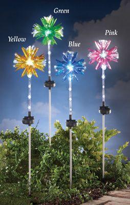 141 best solar powered lighting images on pinterest set of solar fiber optic flower solar garden stake workwithnaturefo