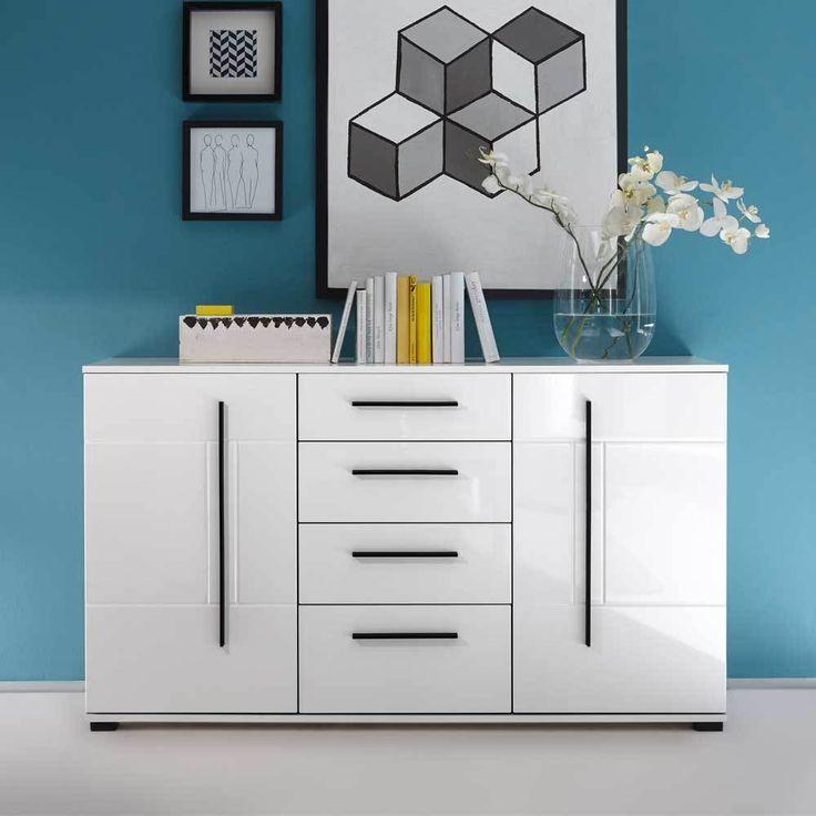 Wohnzimmer Sideboard In Weiß Hochglanz 150 Cm Jetzt Bestellen Unter:  Https://moebel
