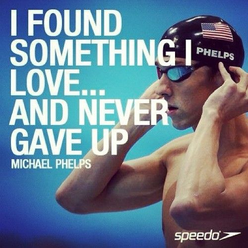 Great one by Micheal #Phelps #swimming #inspiration #MotivationMonday