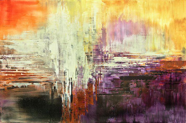 Star Born, abstract painting by Tatiana Iliina