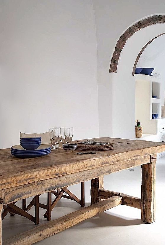 Stunning antique harvest table for the dinning room. Lets have lots of guests.