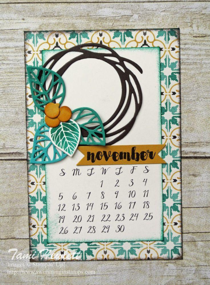 November 2017 desktop calendar / Swimming In Stamps