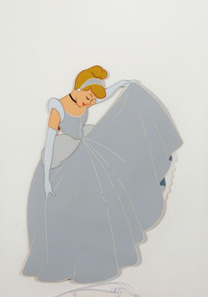 Cinderella in Ball Gown Cinderella (Walt Disney Studio, 1950) Full color animation cel 8″ x 9.5″