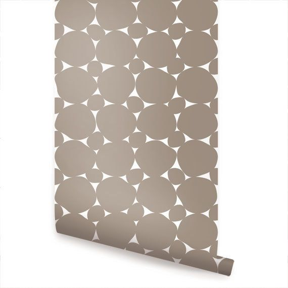Dot Warm Grey Peel & Stick Fabric Wallpaper Repositionable by AccentuWall on Etsy https://www.etsy.com/listing/154031641/dot-warm-grey-peel-stick-fabric