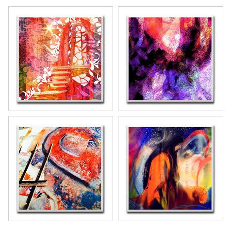 Ceramic Tile Coaster Set of 4 Portals and Gates. Great for a gift to family, friends, or for yourself! These unique handmade Ceramic Tile Coasters will decorate your home or office. They can be use by the pool, or at your backyard gathering.