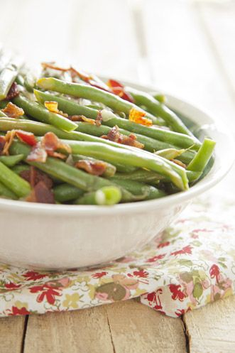 Paula Deen Spicy Green Beans.  Just finished these for supper.  Really good, and I normally don't care for fresh green beans.