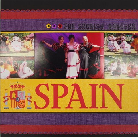 Spain page created with Reminisce, Passports collection by Teena Hopkins for My Scrappin' Shop.