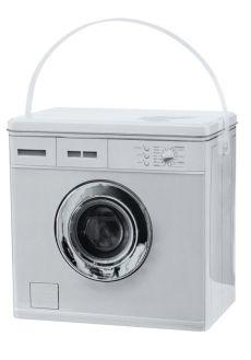 Boks for vaskepulver. Motiv foran og bak