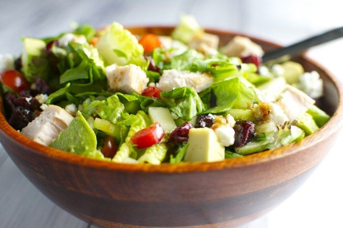 Salad Sayur Saus Lemon Salad Ayam Makanan Sehat Resep Ayam