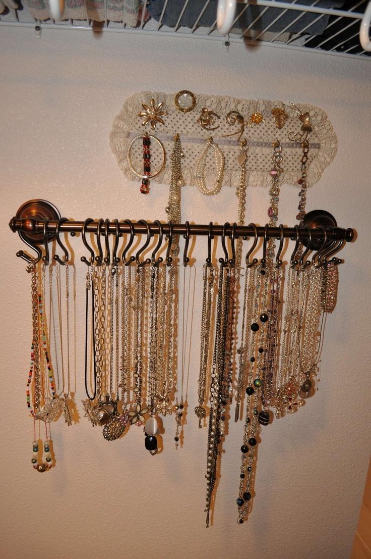 Best 25+ Dorm Jewelry Storage Ideas On Pinterest  Hidden Jewelry Storage,  Diy Necklace Holder And Bracelet Holders