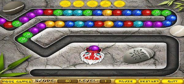 Новая версия популярной Зумы, которая выполнена по стандартным правилам, но в более необычном оформлении. Главную роль теперь занимает большой красивый дракон, который может стрелять шариками по линиям. Задача каждого уровня типична - надо уничтожить все предметы, пока они движутся по дороге. Играйте бесплатно в эту игру на нашем сайте тут http://woravel.ru/igra-zuma-drakon/