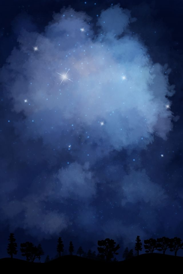 Sky Ry Sky Night Hand Drawn Illustration Image On Pngtree Free Download On Pngtree Photo Background Images Hd Photo Background Images Sky Aesthetic