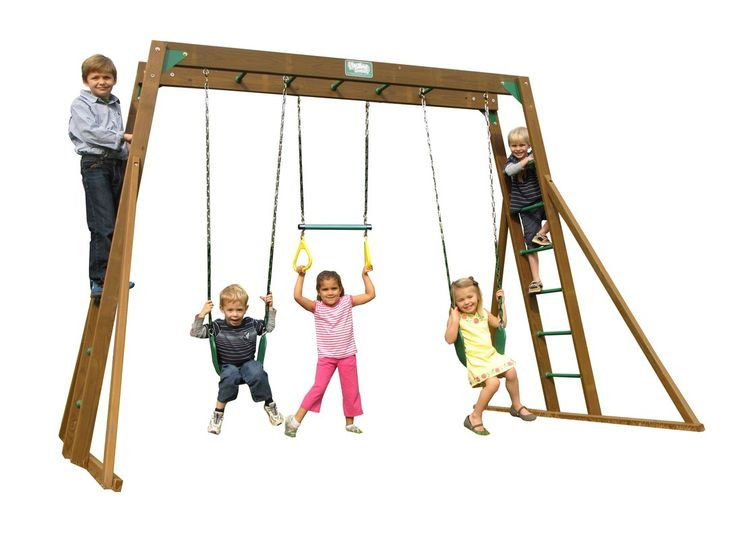 Classic Top Ladder Swing Set $550 on sale at Wayfair...