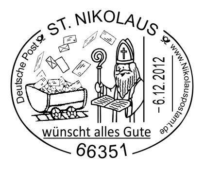 Write to the Nikolaus! Nikolaus, Poster, Deutsche post