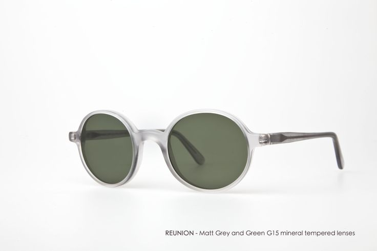 REUNION in Matt Grey with Green G15 mineral tempered lenses