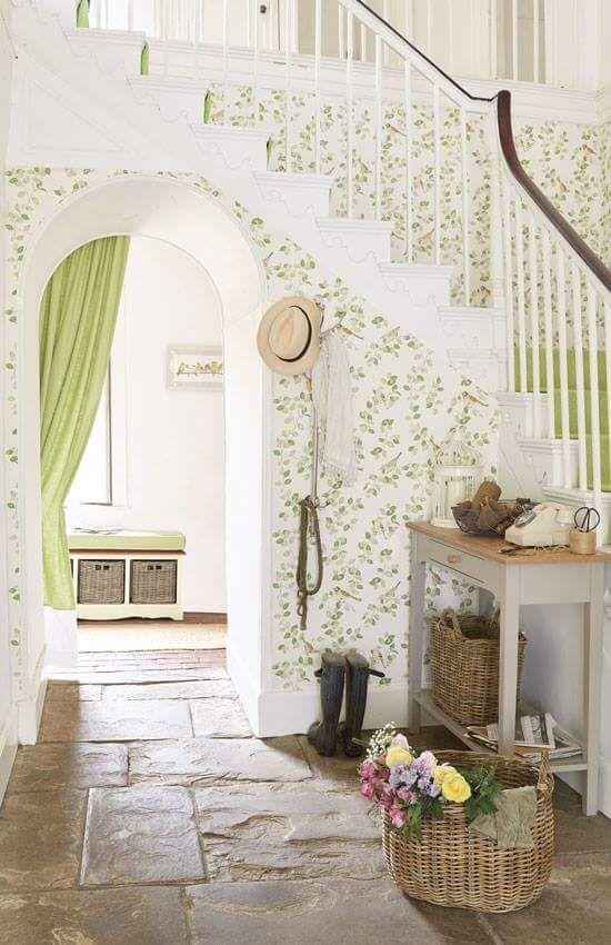 17 best images about cottage seafoam green on pinterest green mint green and cottages - Country cottage hallways ...