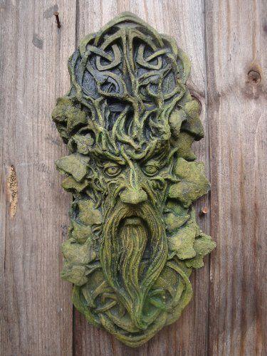 CELTIC GREEN MAN WALL PLAQUE by Brighthelm-Stone, http://www.amazon.co.uk/dp/B00EV64QBS/ref=cm_sw_r_pi_dp_.22Fsb1Y1DBWQ