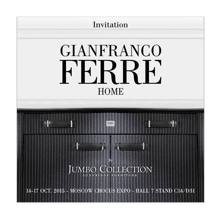 Gianfranco Ferré Home | iSaloni Moscow Crocus Expo 2015