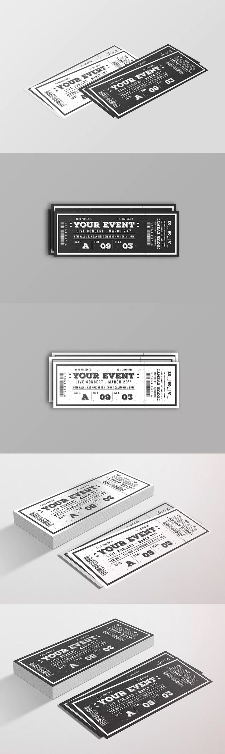 The Best Ticket Templates Images On Pinterest Role Models - Event ticket template photoshop