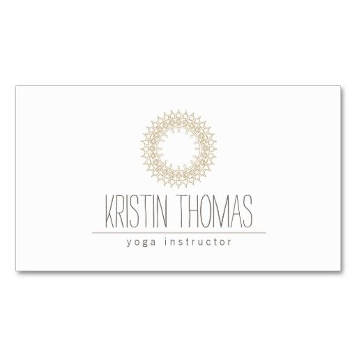 297 best yoga instructor business cards images on pinterest bohemian gold sun mandala yoga business card colourmoves