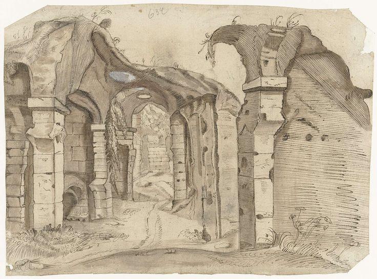 Harmen ter Borch | Paadje door het Colosseum, Rome, Harmen ter Borch, Gesina ter Borch, Gerard ter Borch (II), 1592 - c. 1675 |
