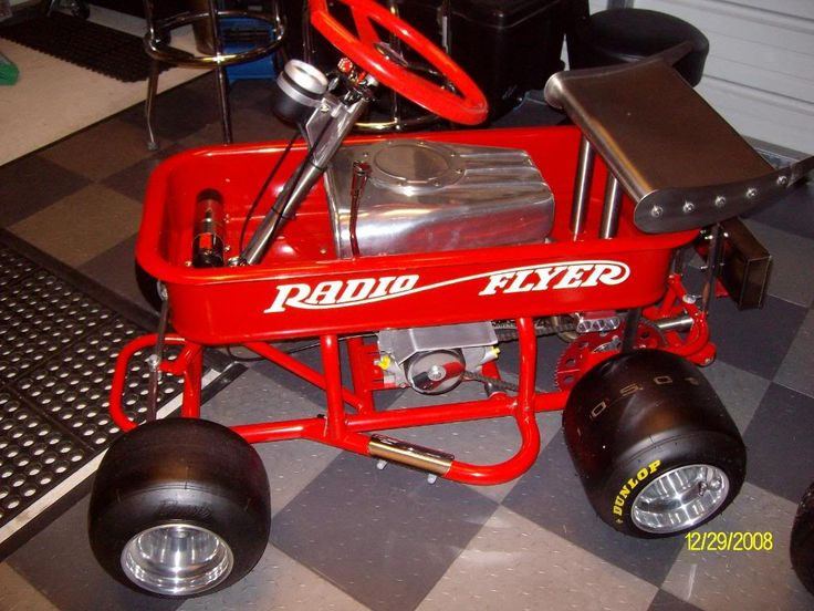 One Of A Kind Radio Flyer Wagon Gas Powered Go Karts