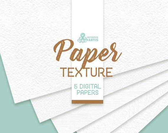 Paper Textures 5 Digital Papers 12x12in Resources Clipart