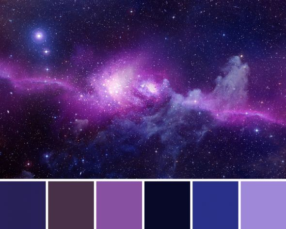 Colour scheme - space/galaxy