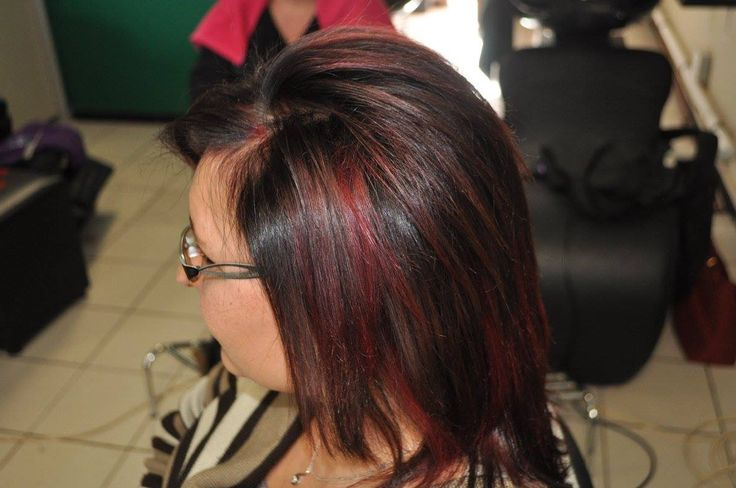 Inebrya Superbooster Red - done in foils on cosmetic colour - no bleach used