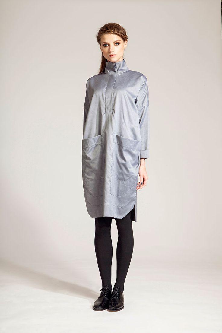 IMRECZEOVA FW16 grey shirt dress