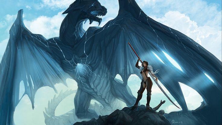 dragon fantasy art artwork dragons