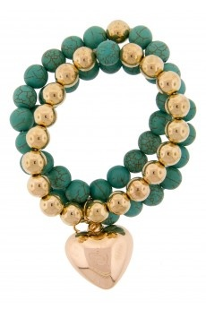 Three Row Stone Bracelet by Collette Hayman